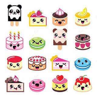Imágenes Kawaii Tiernas Hermosas Amor Comida cake pie pastel