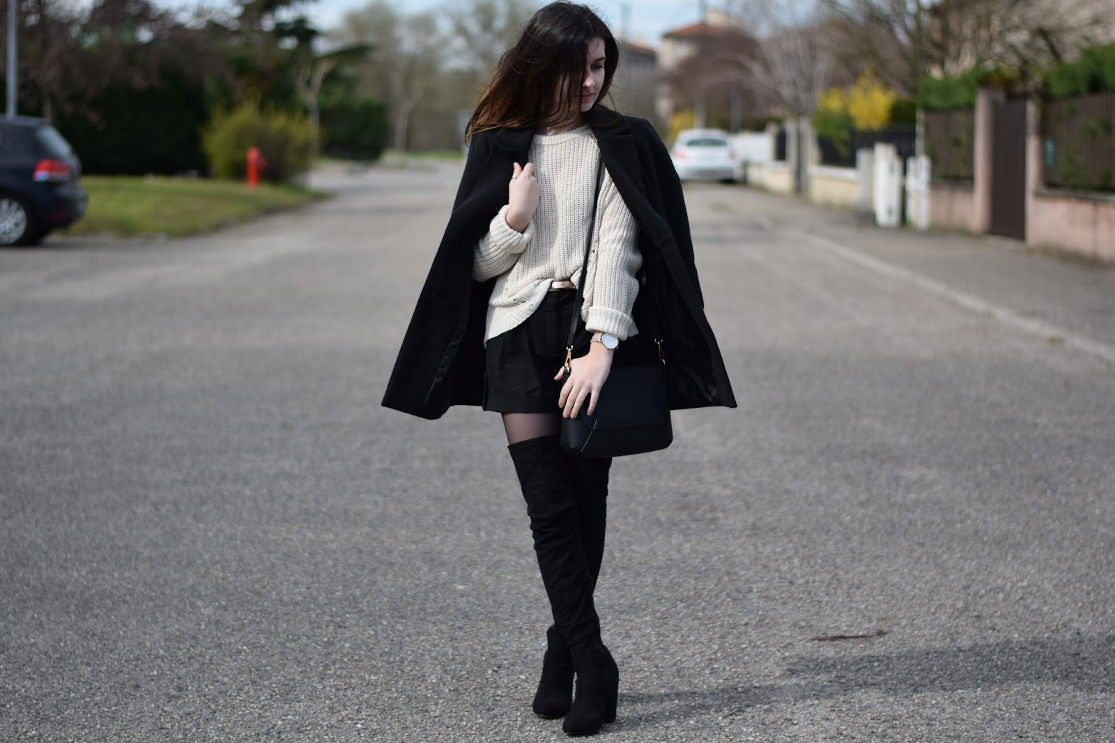 fashion h&m mode manteau noir