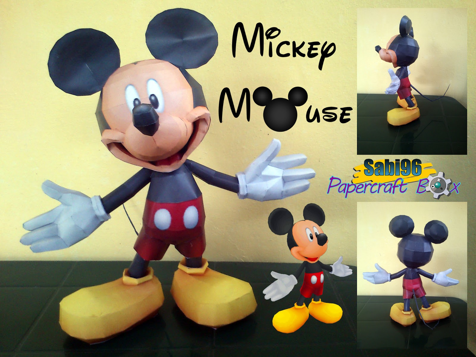 Mickey Mouse Paper Model
