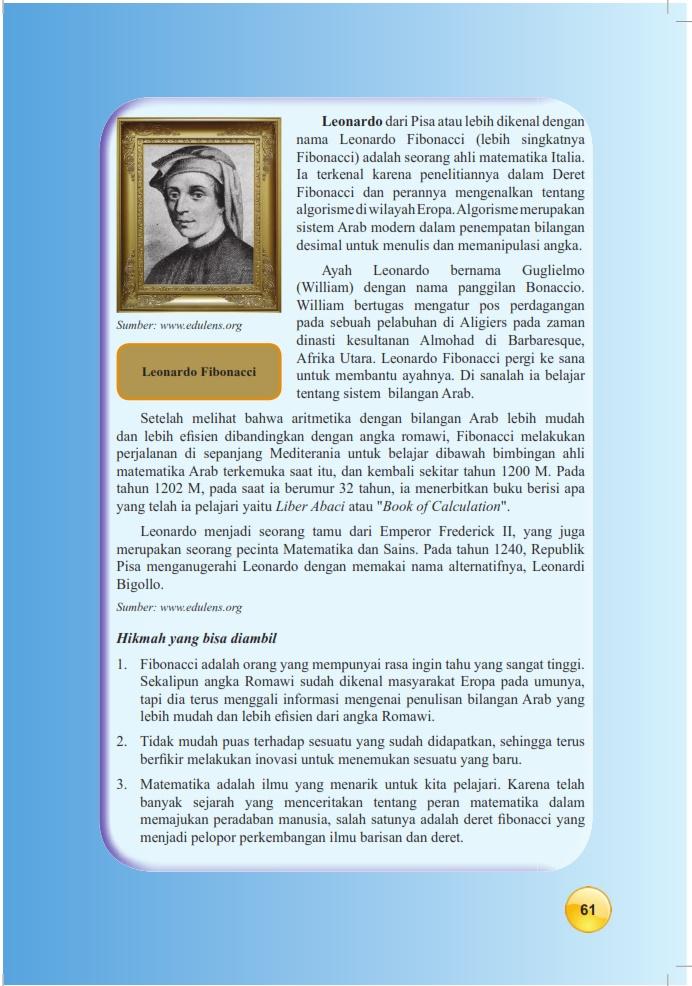Matematika Di Sma Materi Pembelajaran Bab Pola Barisan Dan Deret Kelas 9