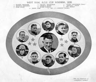 West Ham ACU Cup Winners 1938