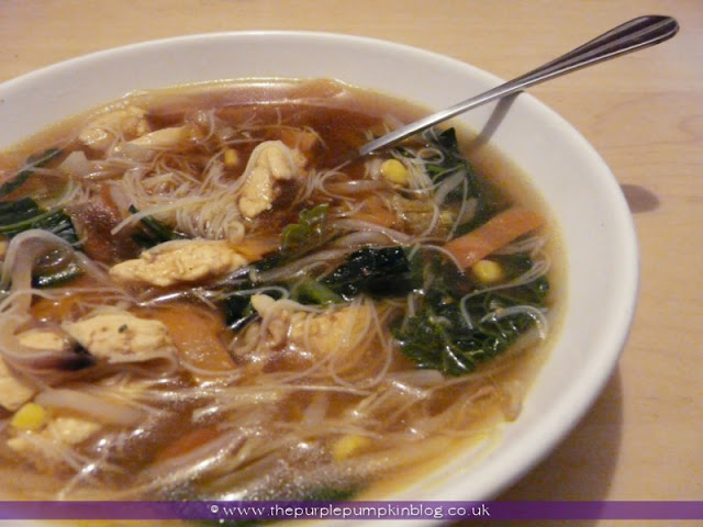 Chinese Chicken Stir-Fry Soup | The Purple Pumpkin Blog