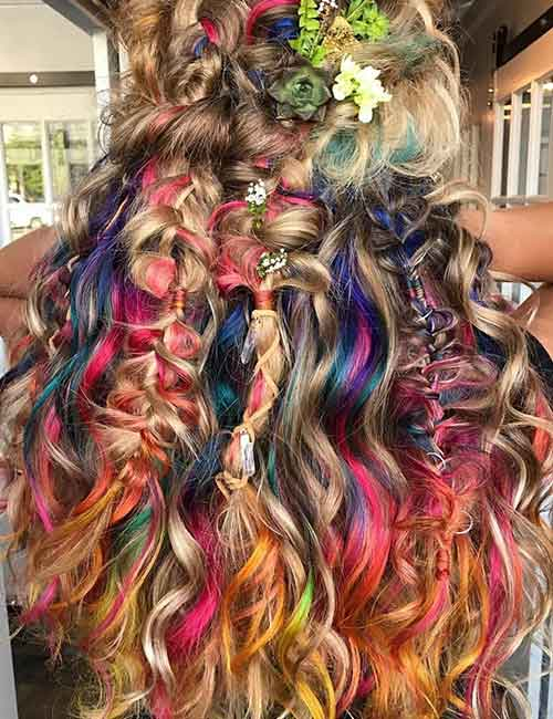 Mermaid Hair Color Idea - Bohemian Mermaid