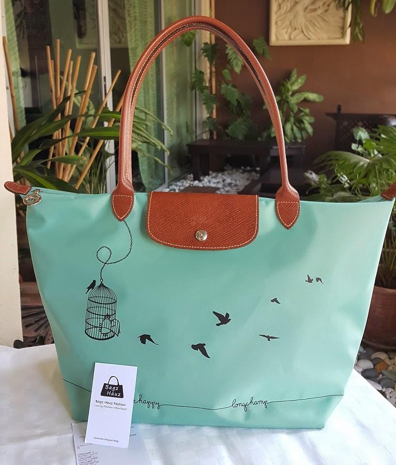 07a505729ba9 LONGCHAMP Le Pliage Cage aux Oiseaux 31cm LH - Color  Lagoon ~ For  Farahidayah ~ ♥♥1st time customer♥♥