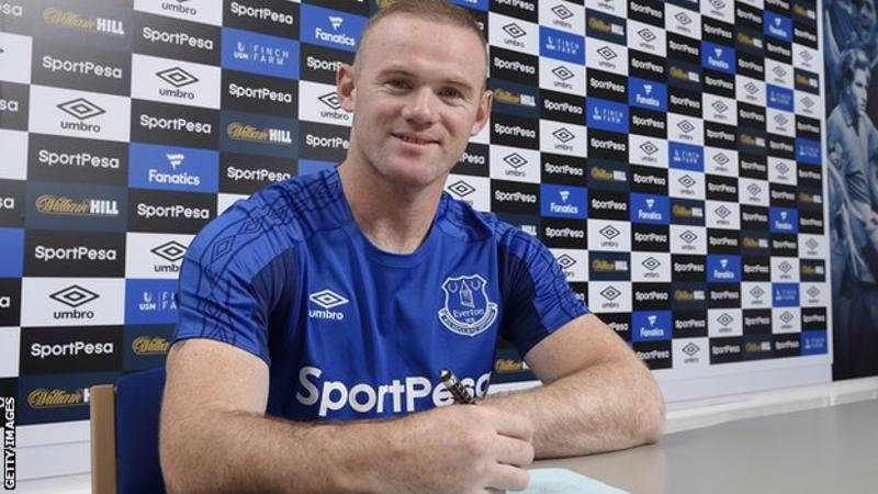 Rooney signs for everton