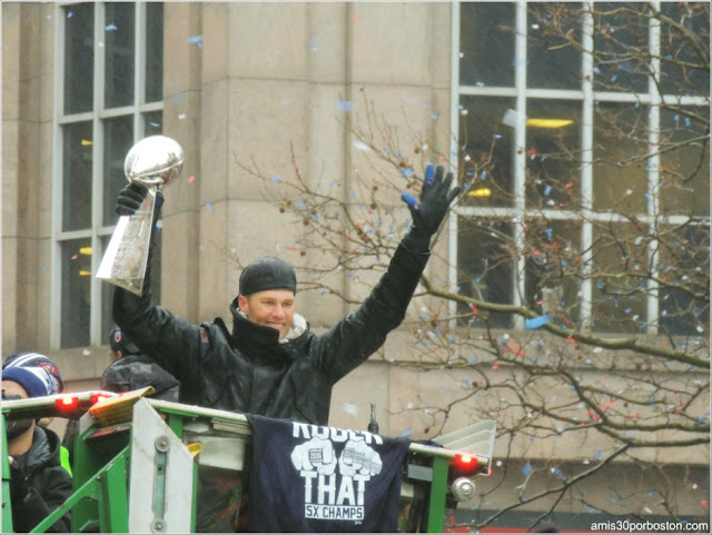 Celebración de la Super Bowl en Boston