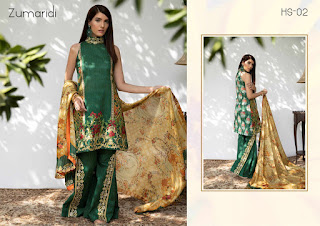 HINA SHAH LUXURY LAWN EID COLLECTION 2018