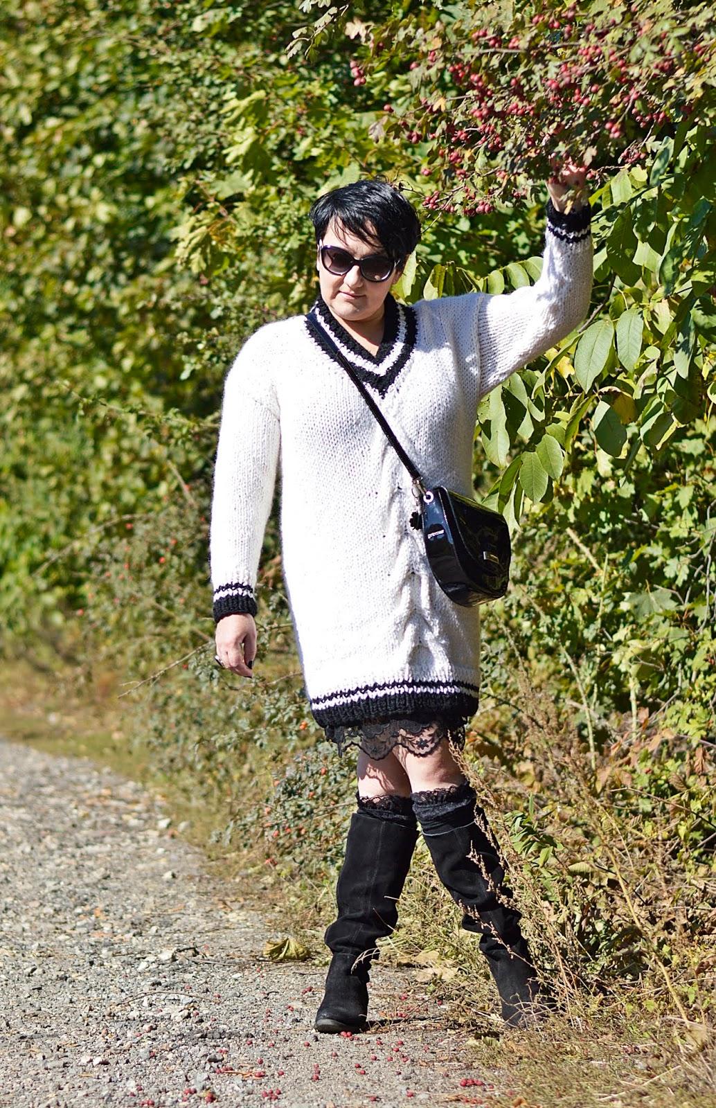 Polskie rękodzieło, sweter ręcznie robiony, sweter wełniany