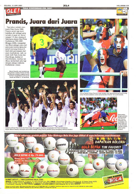 PIALA KONFEDERASI-FIFA 2001: PRANCIS, JUARA DARI JUARA
