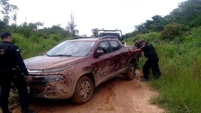 Polícia recupera veículo roubado em sítio após denúncia anônima em Guajará-Mirim