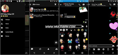 BBM Mod Theme Black Mesenger v2.9.0.51 Apk