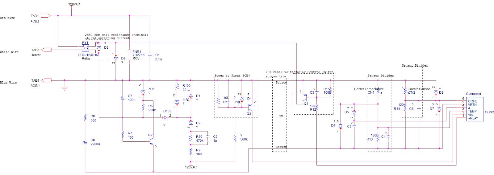 Coffee Pot Wiring Diagram - Wiring Diagrams on