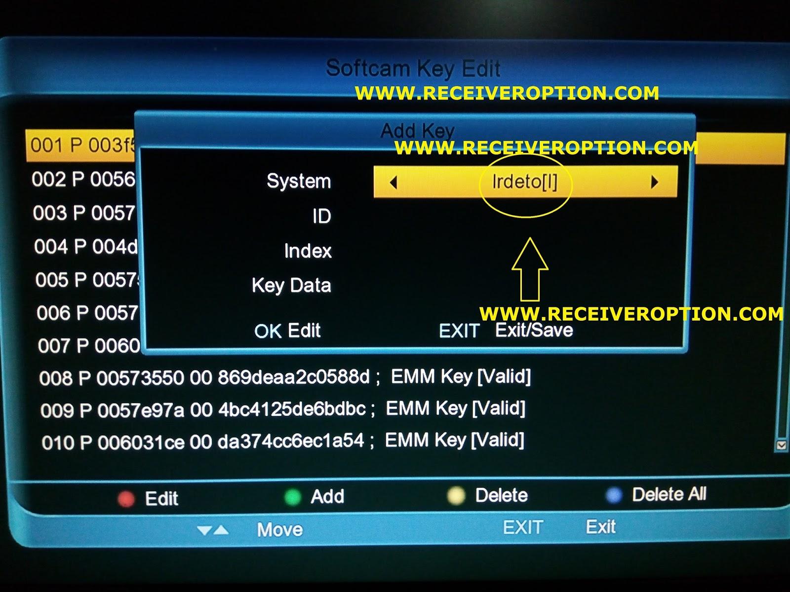 OPENBOX A7G HD RECEIVER POWERVU KEY OPTION - HOW TO ENTER