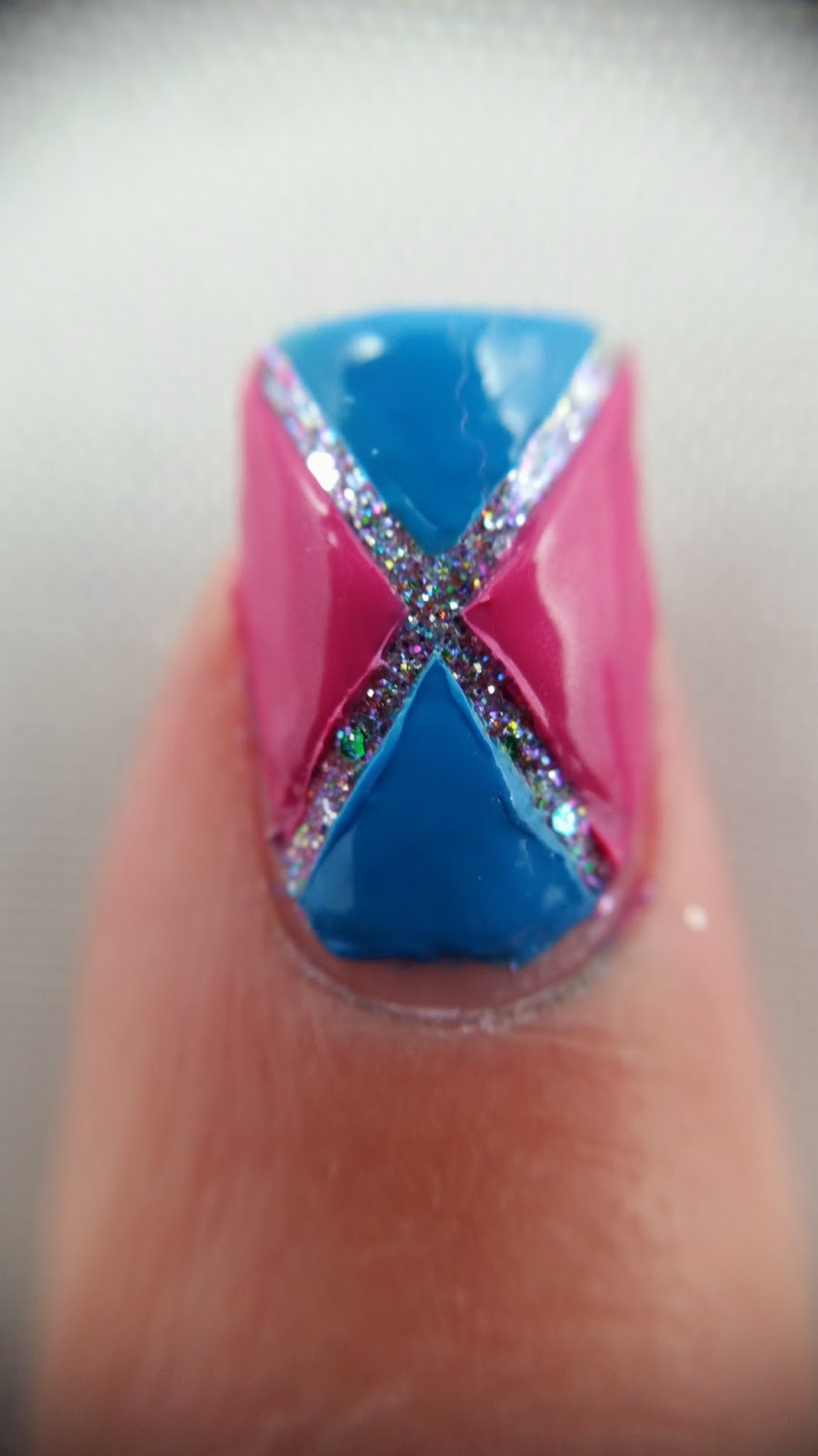china glaze liquid crystal nail polish with nail art