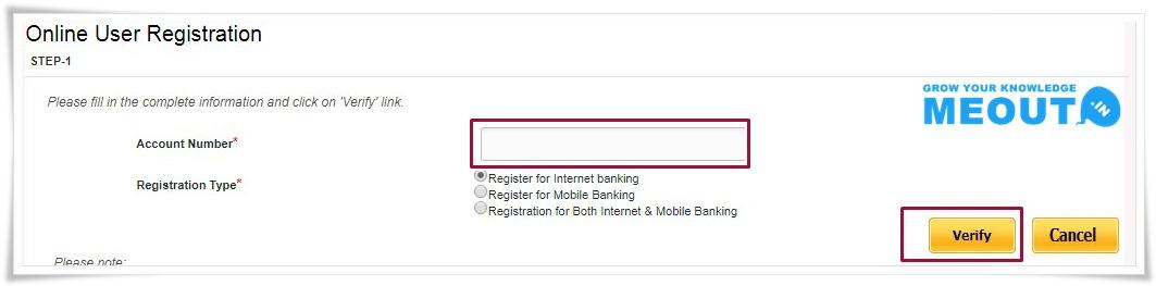 Punjab National Bank Net Banking step1