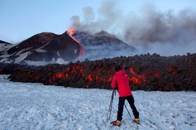 Mount Etna in Sicily Is Sliding Into Mediterranean Sea
