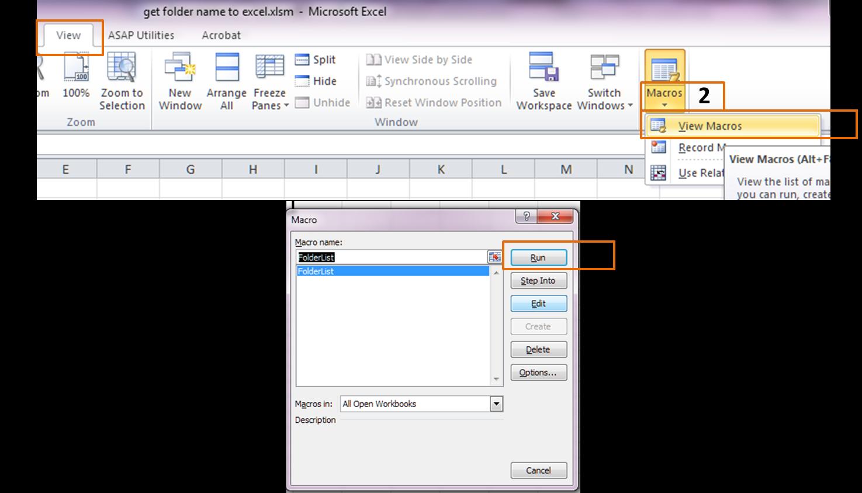Ulik Office Get Folder Name Into Excel List
