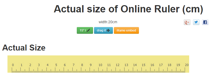 Online Ruler Actual Sizeinch Cm And Draggable 2018 Updated Free