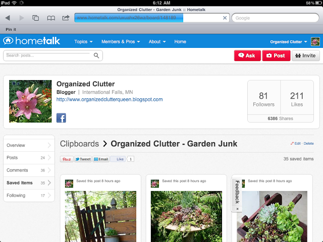 My Top Five Garden Junk Posts of 2013 www.organizedclutterqueen.blogspot.com