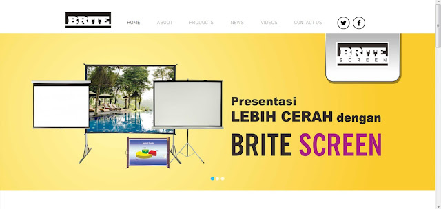 [Portfolio] Website Brite Screen Indonesia