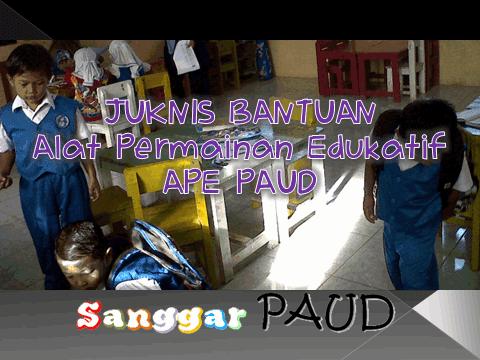 JUKNIS BANTUAN APE PAUD