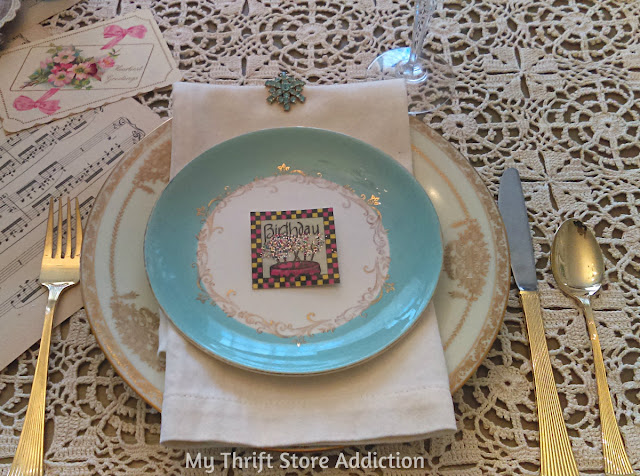 shabby chic birthday place setting