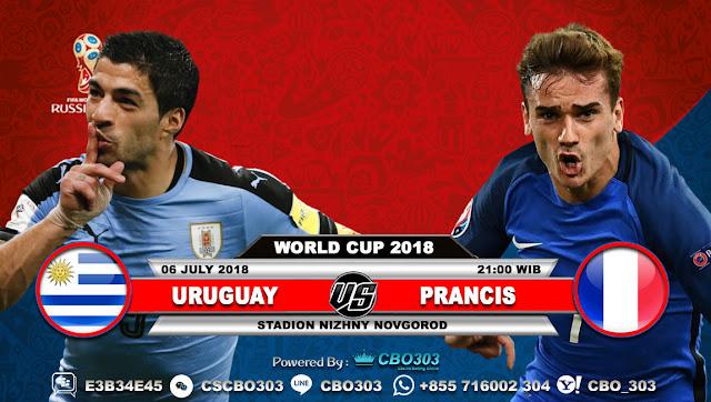 Prediksi Bola Piala Dunia 2018 Uruguay VS France 6 July 2018