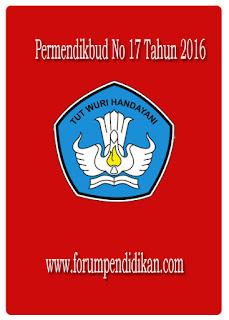 Permendikbud No 17 Tahun 2016