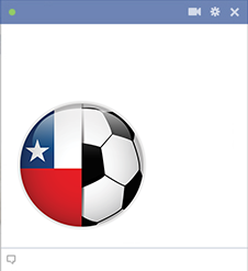Chile football emoticon