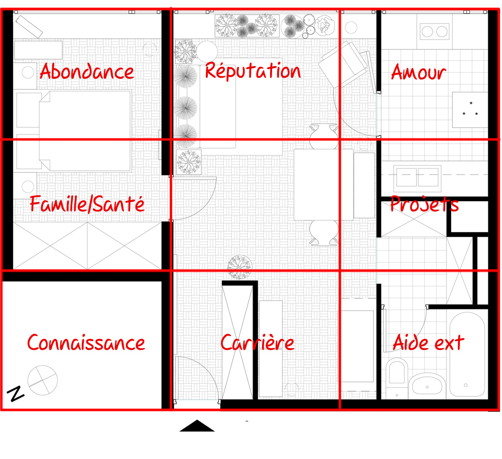 plan appartement feng shui
