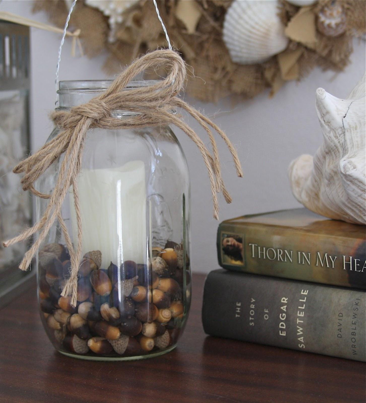 Simply Silver...: DIY Mason Jar Candle Holder