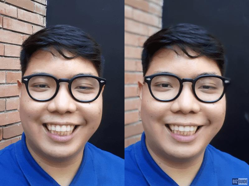 Normal selfie and bokeh selfie