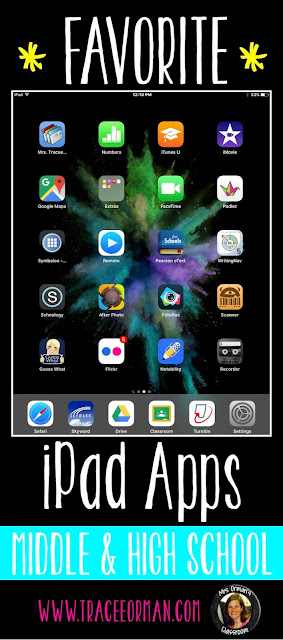 iPad Apps for Middle and High School Classrooms - www.traceeorman.com