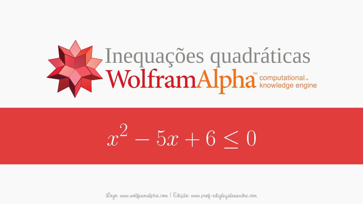 Calcule inequações quadráticas com este widget