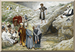 """Saint John the Baptist and the Pharisees"" -- by James Tissot - PD-1923"