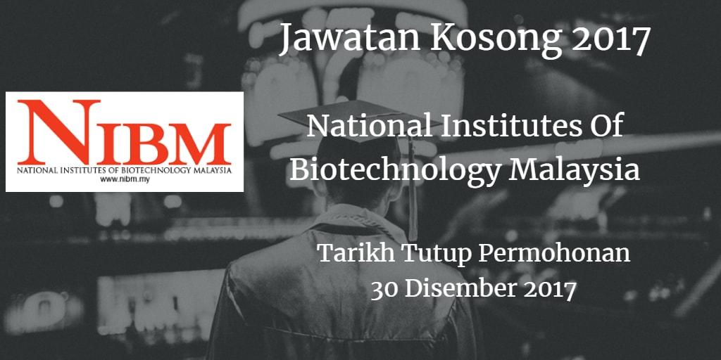 Jawatan Kosong NIBM 30 Disember 2017