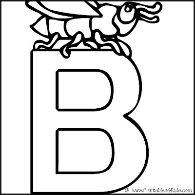 letter b preschool coloring pages - photo#28