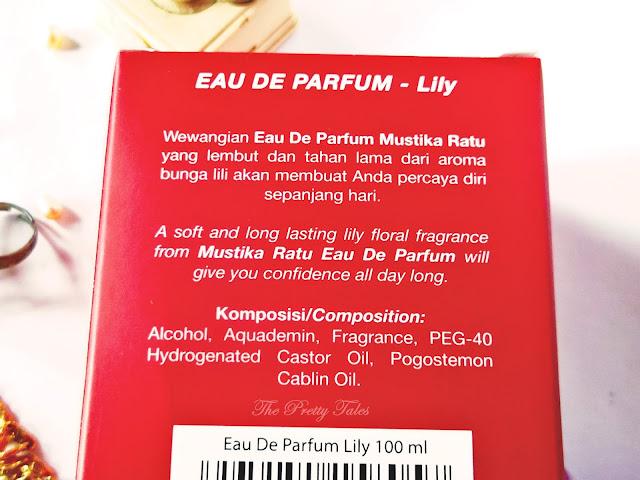 mustika ratu eau de parfum lily
