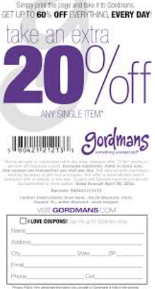photograph about Gordmans Printable Coupons known as Gordmans Printable Discount coupons Could 2018