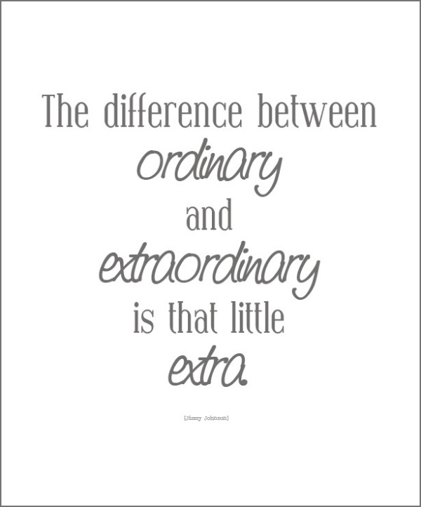Quote extraordinary