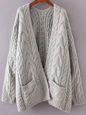 Chaqueta de ochos en color gris