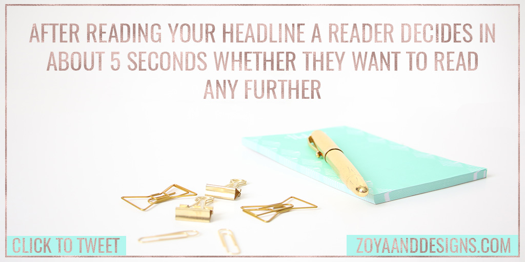 why are headlines important for high quality blog posts