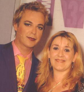 With Julian Clary in 2005, when I received the New Media Age Effectiveness Award for Greatest Individual Contribution to New Media.