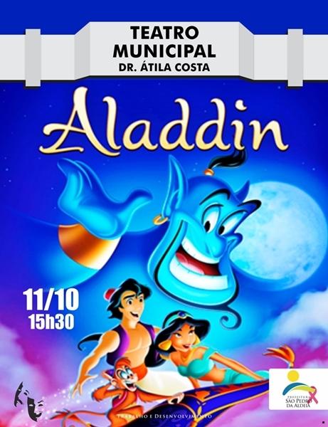 """Teatro Municipal de São Pedro da Aldeia  recebe """"Aladdin"""", peça do Projeto Escola, com ingressos a partir de 15 reais"""