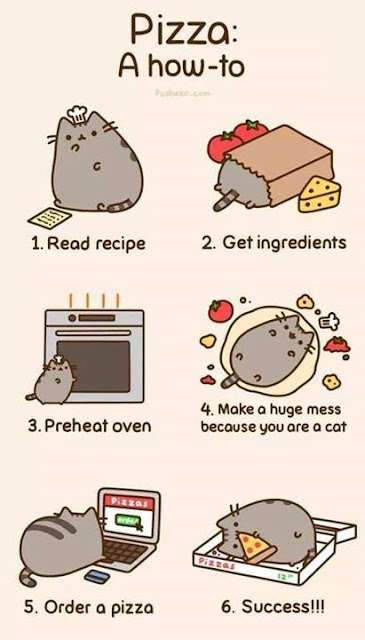 pusheen pizza comic