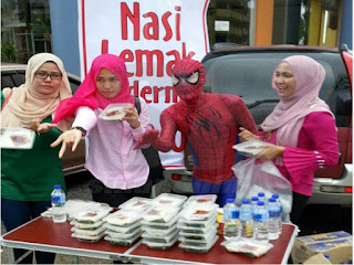 Nasi Lemak Spiderman