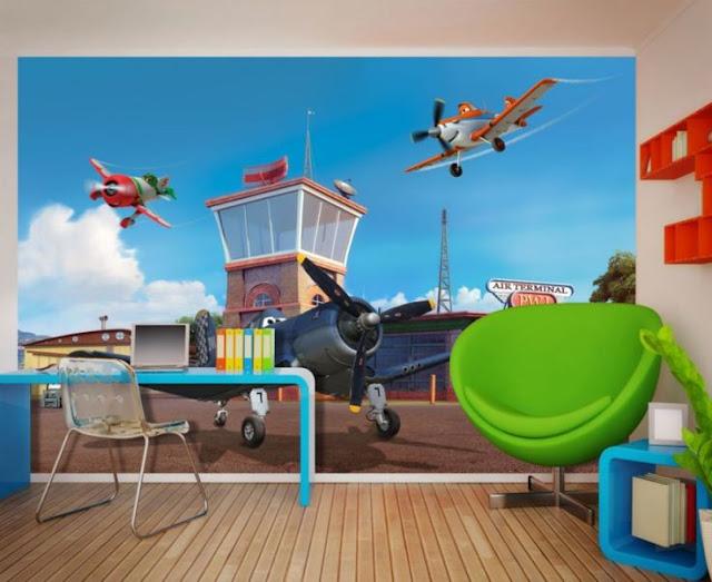 lasten tapetti Disney Planes lastenhuone tapetti valokuvatapetti lapsia