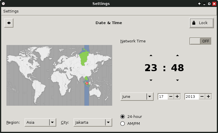 How to Setup Time & Date (GUI) on Archlinux
