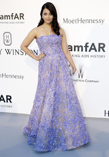 Aishwarya Rai Purple Dress