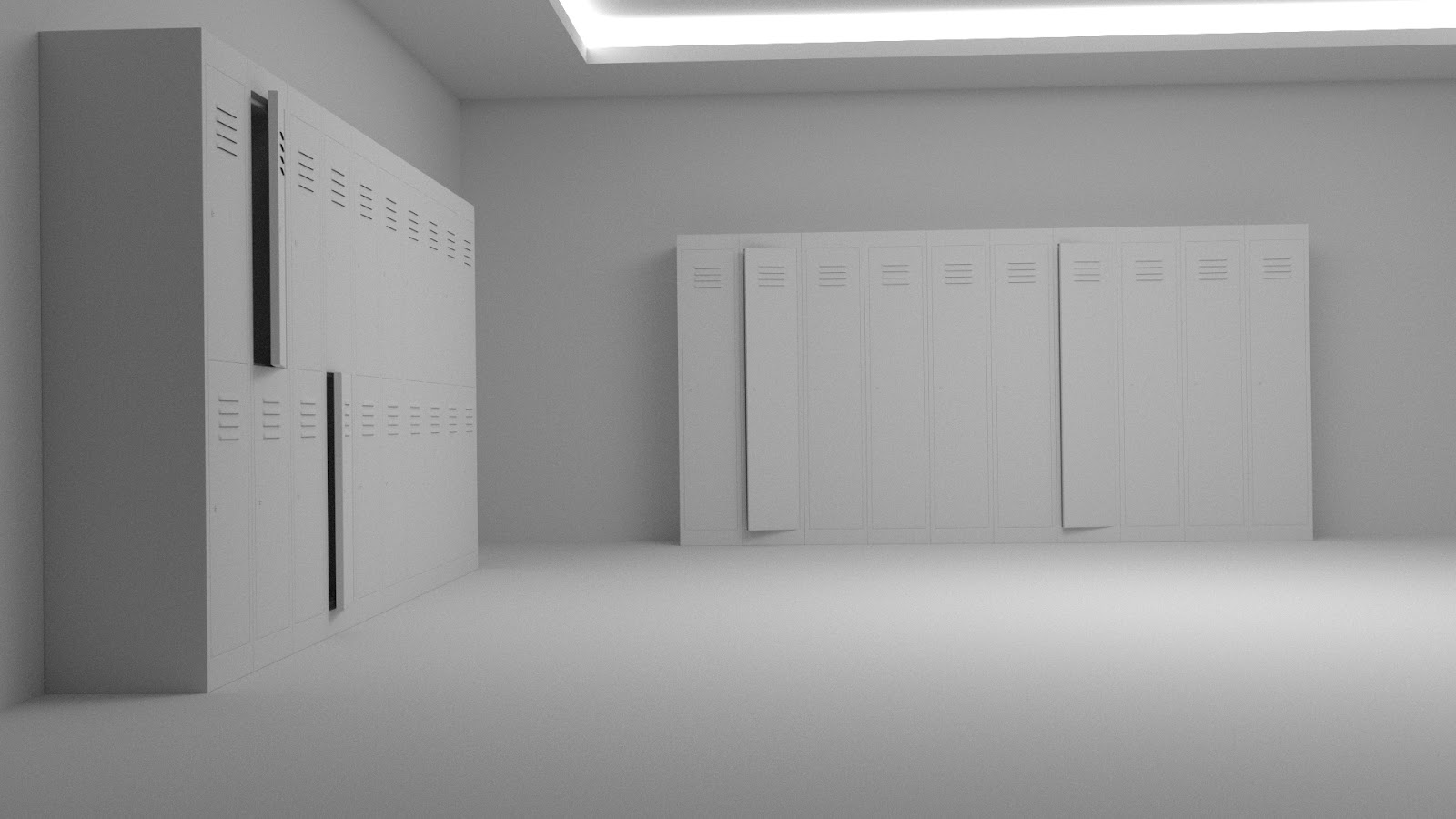 Free 3D Steel Locker .blend file